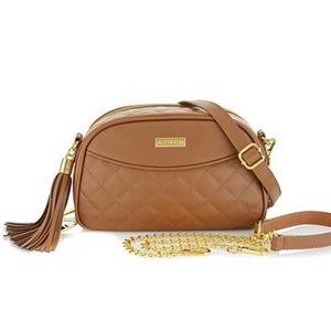 NWOT Joy & Iman Diamond Quilted Leather RFID Bag